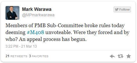 Warawa tweet