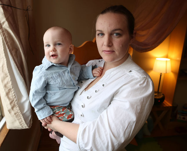 Melodie Ballard and her son, the inspiration for Bill C-243 (PC: Elliot Ferguson, The Whig-Standard)