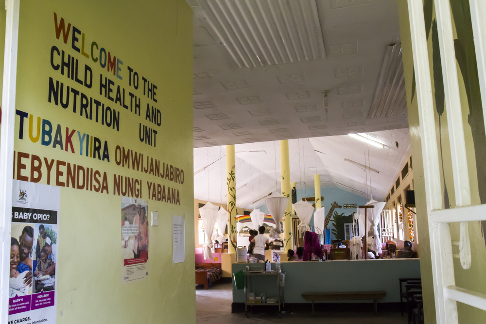 Bwindi, Uganda - February 26, 2017 : Interior of Childrens Unit of Bwindi Medical Clinic, Uganda, Africa.