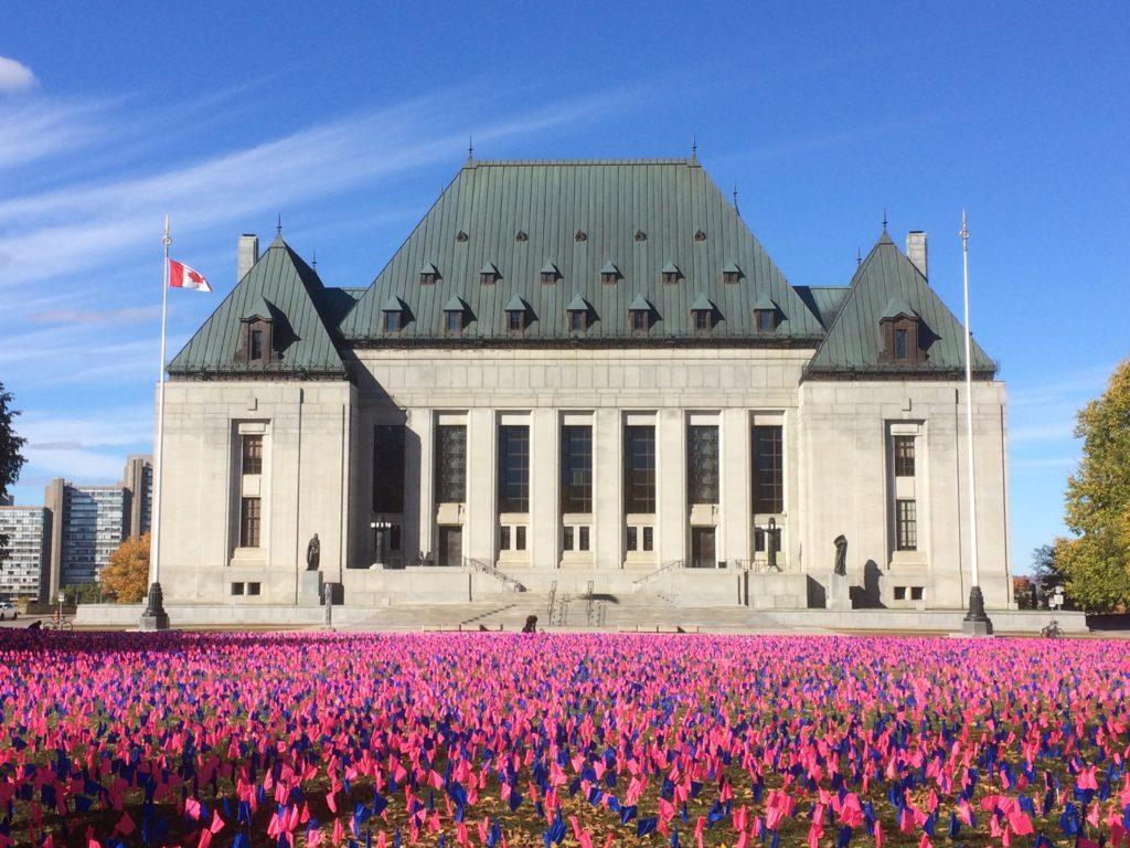 Supreme Court pro-life display